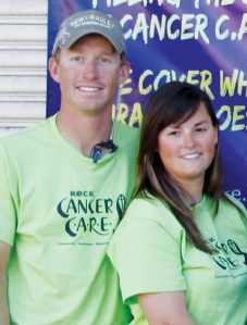 Rock Cancer Care Volunteers Ryan and Sarah